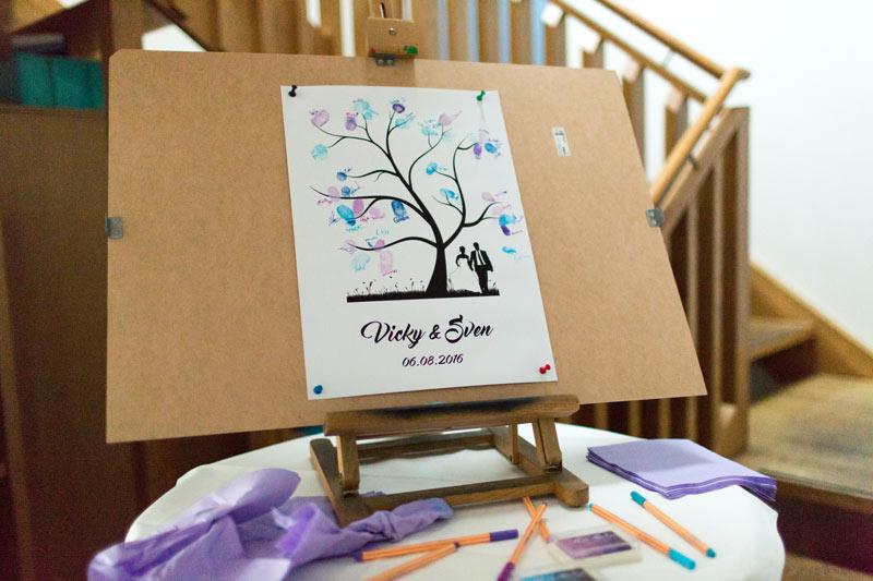 Fingerabdruck Baum Hochzeit
