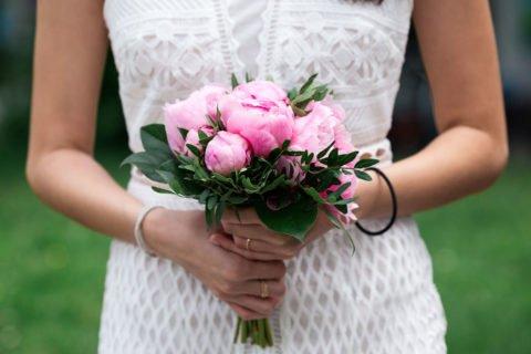 Brautstrauß Rosa Pfingstrosen – J & M