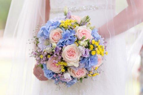 Brautstrauß Rosa Rosen – C & F