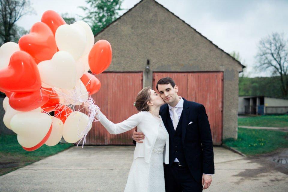 Hochzeit Herzluftballongs  – K & K