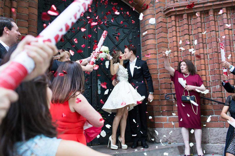 Konfettikanonen Hochzeit